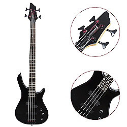 Rocket 4 String Electric Bass Guitar - Black