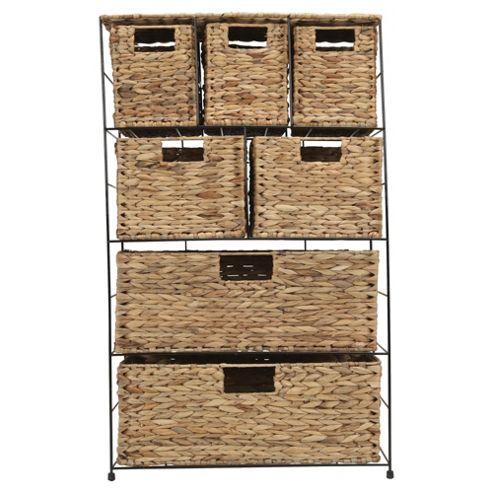 Tesco Water Hyacinth 7 Drawer Storage Tower