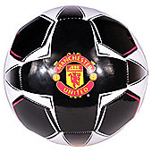 Manchester United Rapid Official Supporter Football Soccer Ball Black Size 5
