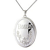 "Sterling Silver ""Family"" Locket Pendant with chain"