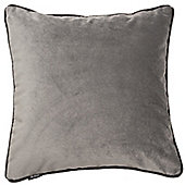 McAlister Soft Silver Matt Velvet Cushion Cover - 43x43cm