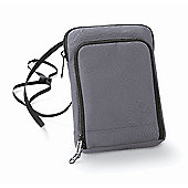 Bagbase Polyester Travel Wallet Smartphone Compatible Grey