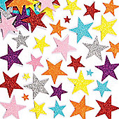 Glitter Star Foam Craft Stickers (Pack of 150)