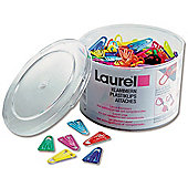 Laurel Paperclips Plastic Non-magnetising 60mm Assorted Colours Ref 25928/131398 [Pack 75]