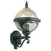 Endon Lighting Round Wall Lantern in Black