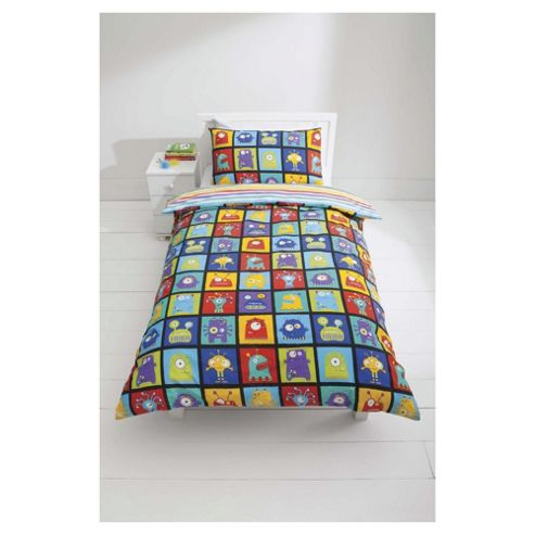 Kids Monsters Duvet Cover Set Single