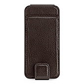 Belkin Premuim Leather Snap Folio case with front flip cover/wallet feature for iPhone 5 - Dark Brown