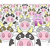 Moove Over For Piggy Canvas Picture