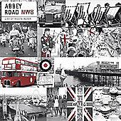 Rule Britannia Wallpaper - Red - 97740