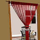 Homescapes Polyester Red String Curtain