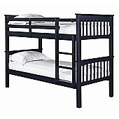 Home Zone Leo Bunk Bed - Solid Navy Blue