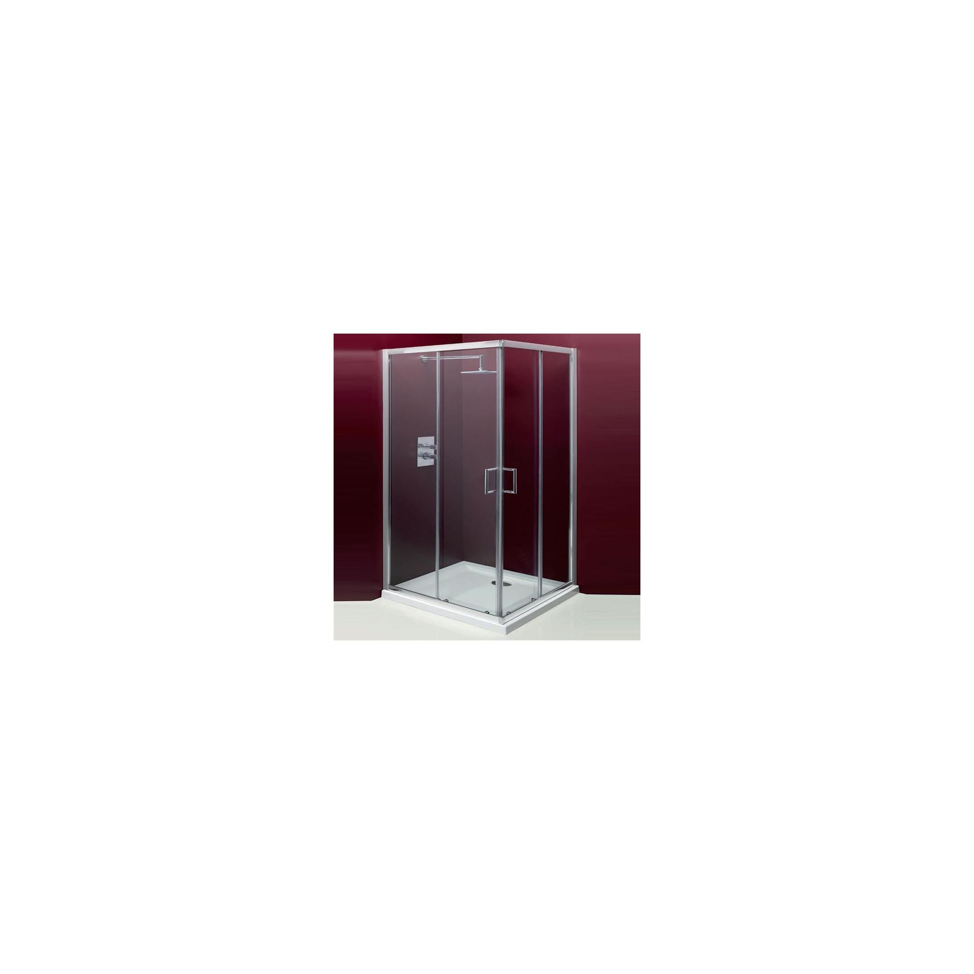 Merlyn Vivid Entree Corner Entry Shower Enclosure, 800mm x 800mm, Low Profile Tray, 6mm Glass at Tesco Direct