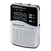 Roberts Sports 994 Personal Radio - Silver