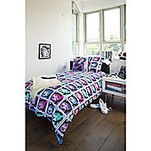 Emma Wright Wonderwoman Cotton Double Quilt Set Multi