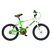 "Concept Viper Boys Single Speed 18"" Green/White"