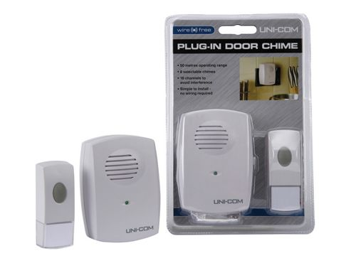 Unicom 54665 Plug In Wireless Door Chime P