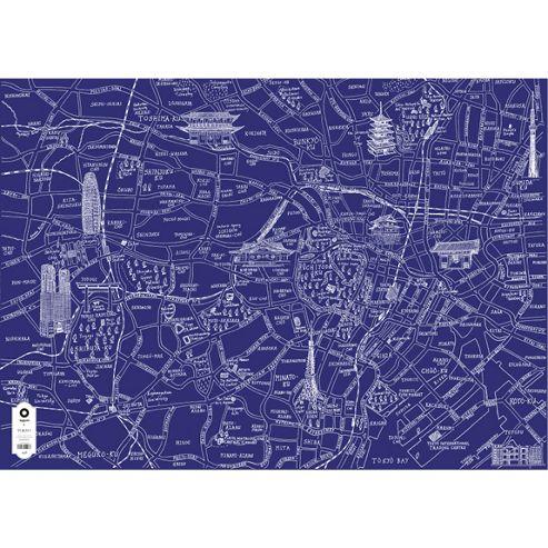 Michael A Hill Map Wrap - Tokyo