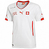 2014-15 Switzerland Away World Cup Football Shirt - White