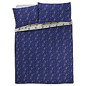 Tesco Spot Burst Duvet Cover And Pillowcase Set Blue, King Size