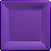 New Purple Square Plates - 23cm Paper Party Plates, Pack of 20