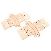 Bigjigs Rail and Road BJT223 Curved Level Crossing