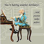 Holy Mackerel Greeting Card - Practice makes perfect Birthday Greetings card