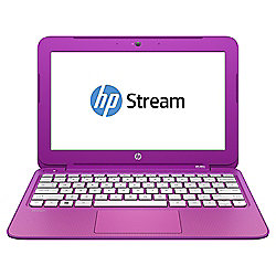 "HP Stream 11-d016na Laptop, 11.6"", Intel Celeron, 2GB RAM, 32GB - Pink"
