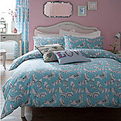 Catherine Lansfield 220 x 220 cm Bohemian Butterfly Kingsize Quilt Set Bed Linen