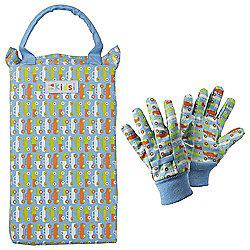Briers Kids Cars Kneeler & Gloves Set