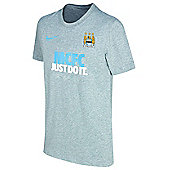 2013-14 Man City Nike JDI Core Tee (Grey) - Grey