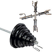 Body Power 155 Kg Olympic Set & Olympic Dumbbell handles