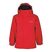 Fizz Kids Waterproof Hooded Multiple Pockets Rain Coat Jacket - Red