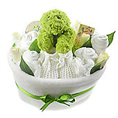 Unisex Baby Nappy Cake Bouquet Arrangement