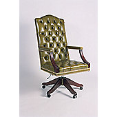 Curzon Gallery Collection Conference High-Back Chair with Foam Interior - Green