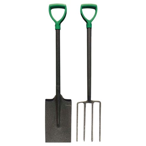 Tesco Value Garden Spade & Fork Set