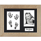 BabyRice New Baby Inkless Handprint Footprint Kit with Display Frame