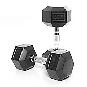 Body Power 12.5Kg Rubber Hex Dumbbells (x2)