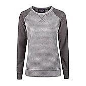 Hannah Round Neck Womens Fleece - Grey