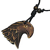 Urban Male Surfer Style Necklace with Bone Eagle Pendant