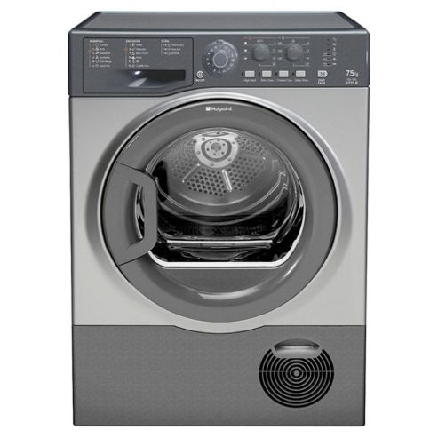 Hotpoint TCYL757C6G Condenser Tumble Dryer, 8kg Load, C Energy Rating, Graphite