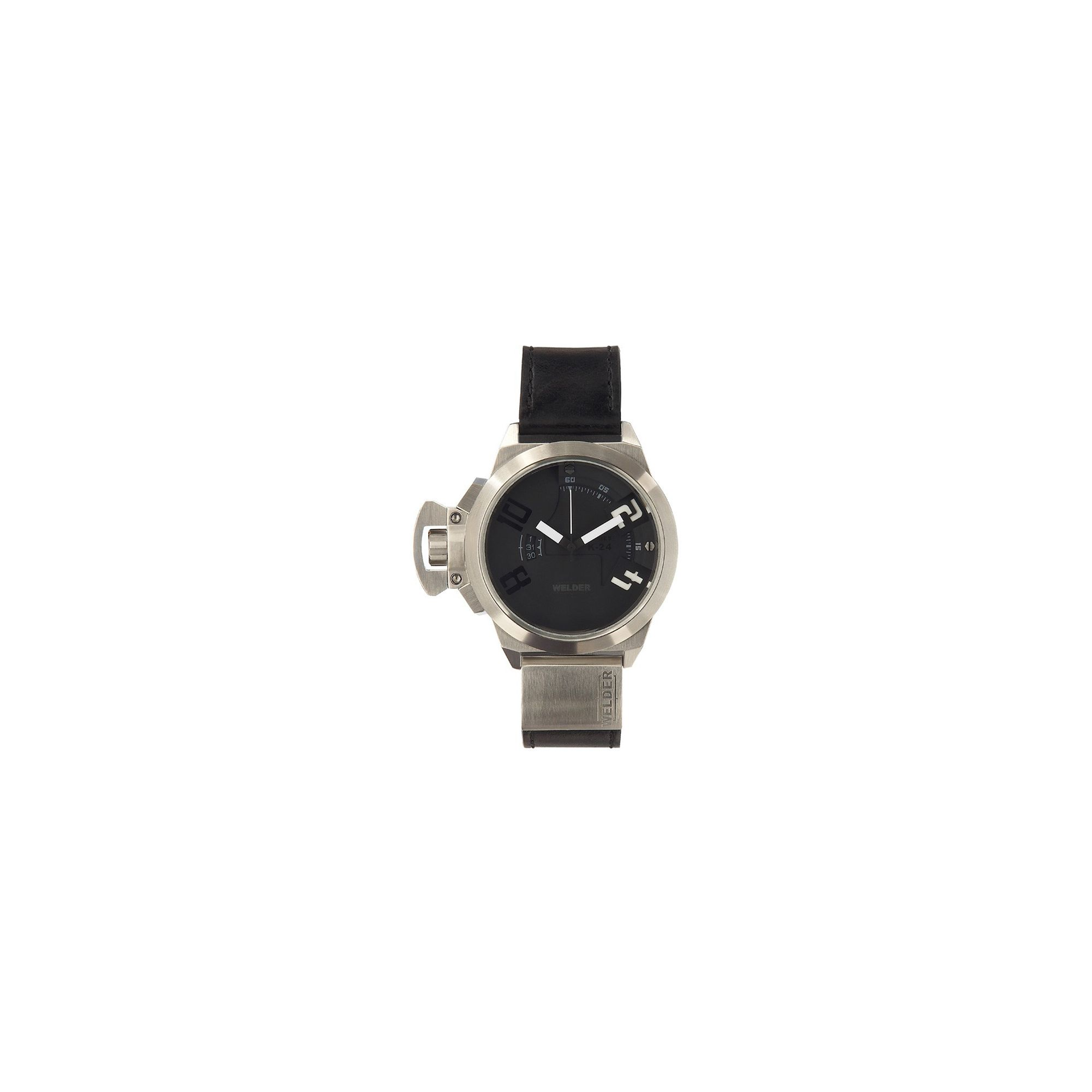 Welder Gents Black Dial Black Rubber Strap Watch K24-3001 at Tesco Direct
