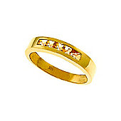QP Jewellers 0.60ct Citrine Princess Prestige Ring in 14K Gold