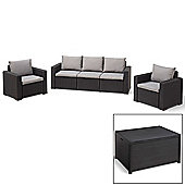 Allibert California Lounge Set with Dex (Seats 5) - Graphite