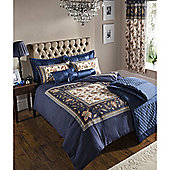 Catherine Lansfield Home designer collection Navy Rochester/ Classique Bedspread