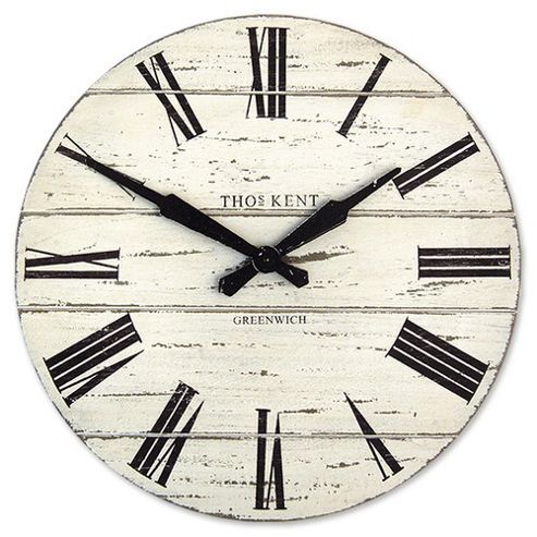 buy thomas kent vintage loft wall clock white from our. Black Bedroom Furniture Sets. Home Design Ideas