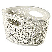 Curver White 4.3L Victoria Storage Basket