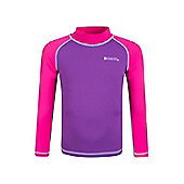 Kids Long Sleeved Rash Vest - Pink