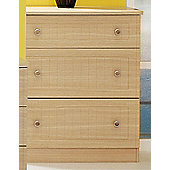 Welcome Furniture Warwick 3 Drawer Deep Chest - Light Oak