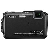 Nikon Coolpix AW110 Digital Camera, Black, 16MP, 5x Optical Zoom, 3.0 inch LCD Screen