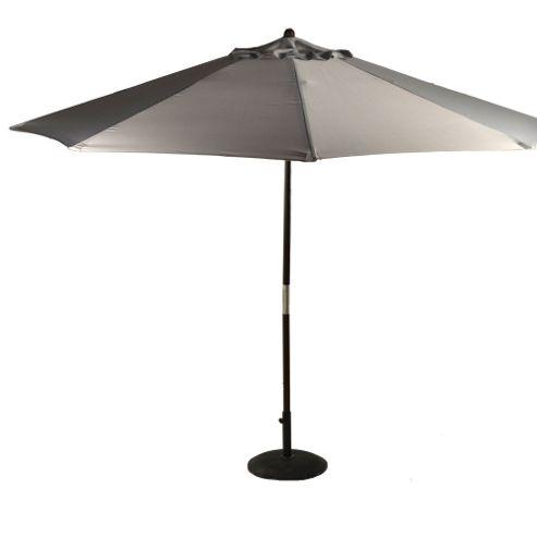 Grey 2.5m Wooden Crank Parasol